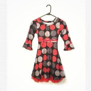 RARE EDITIONS  polka dots dress for fall season